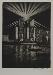 Electrical Building at Night, Chicago Fair, 1933