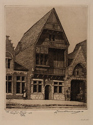 The Old Lace House, Belgian Village, Chicago Fair, 1933