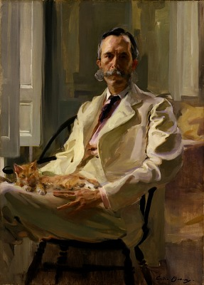 Man with the Cat (Henry Sturgis Drinker)