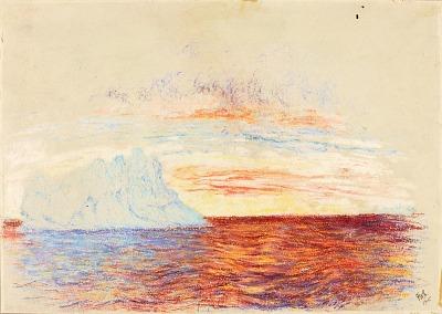 Midnight Sunset--Davis Strait, Arctic Circle