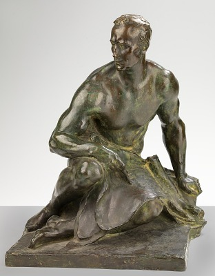 Preliminary Model of Male Figure from Fountain of Engineers