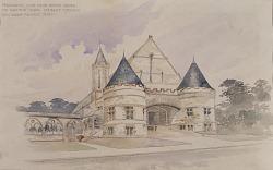 Preliminary study for an Armory Building for Shattuck School, Faribault, Minnesota