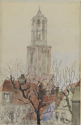 Tower of the Cathedral of Utrecht, Holland