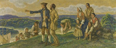 Arrival of Colonel John Donaldson (design for mural)