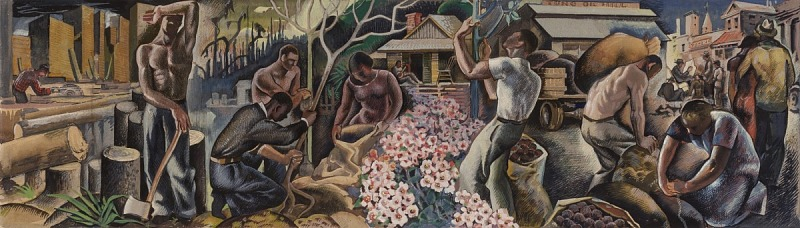 Image for Tung Oil Industry (Study for Covington, Louisiana Post Office Mural)