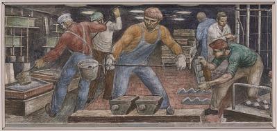 Fabricating Steel (mural study, Midland, Michigan, Post Office)