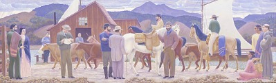 San Rafael Creek--1851 (mural study, San Rafael, California Post Office)