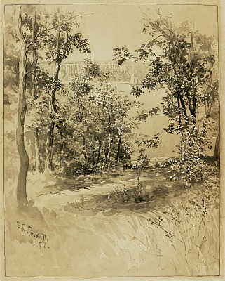 New York, Site of Fort Washington, Looking at Fort Lee