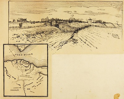 Present Appearance of British Entrenchment, Yorktown