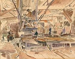 Inside A Lumber Mill