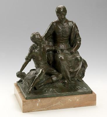 Nancy Hanks and Boy Abraham Lincoln (#4)