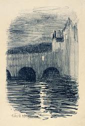 Pulteney Bridge, Bath--Twilight