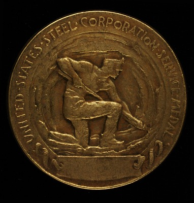 Elbert H. Gary United States Steel Corporation Service Medal (reverse)