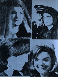 JFK and Jacqueline Kennedy by Warhol following the assassination