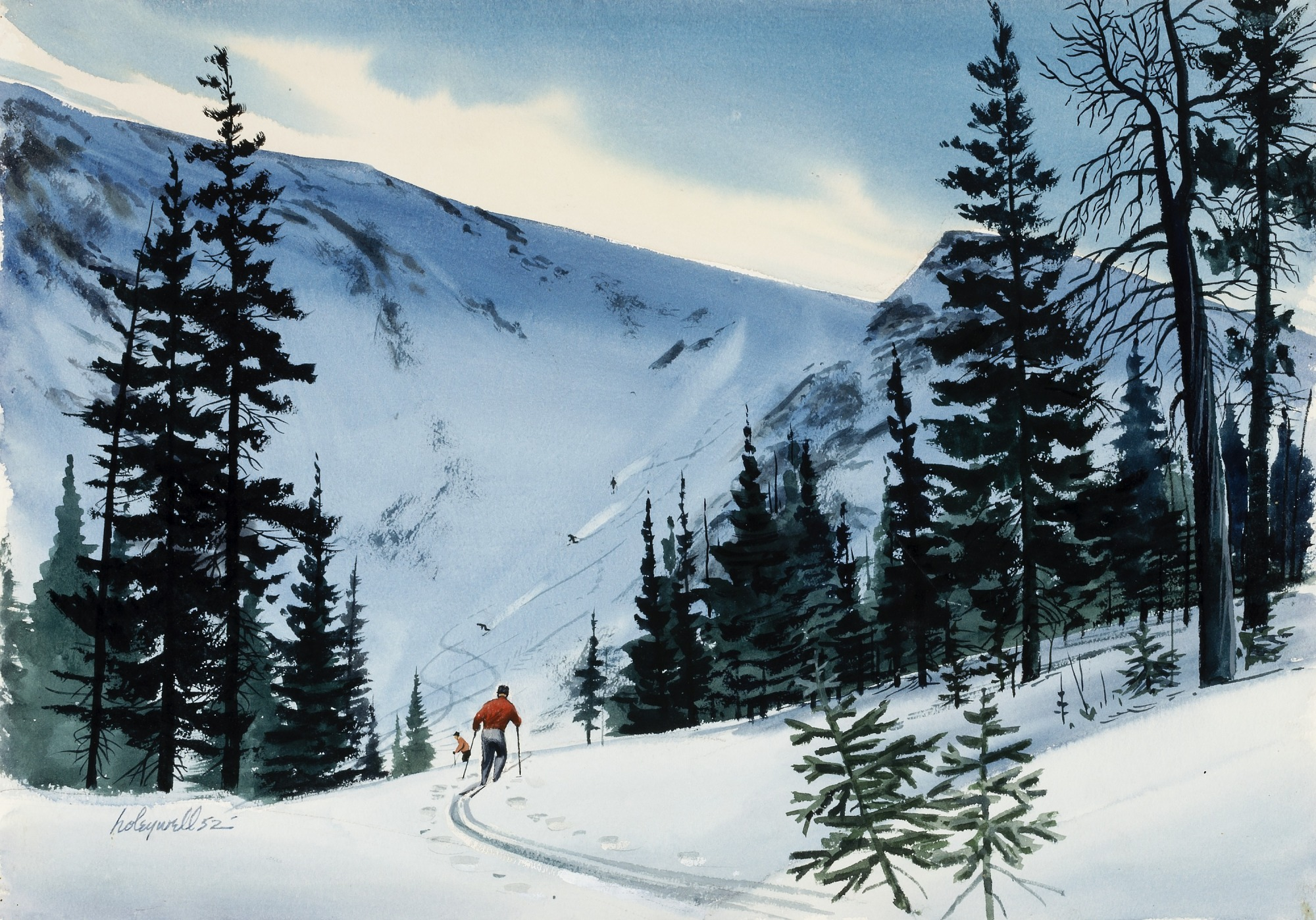 images for Skiing at Tuckerman's Ravine, Mt. Washington, N. H.