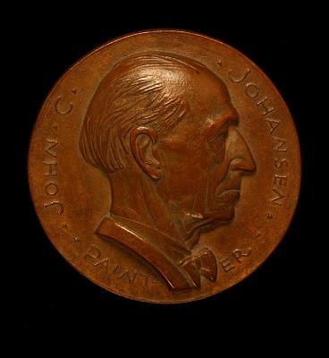John Johansen Portrait Medal (obverse)