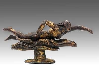 Swimming Figure with Fishes