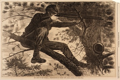 The Army of the Potomac--A Sharp-Shooter on Picket Duty