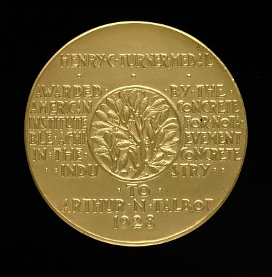 Henry C. Turner Medal for Notable Achievement in the Concrete Industry (reverse)