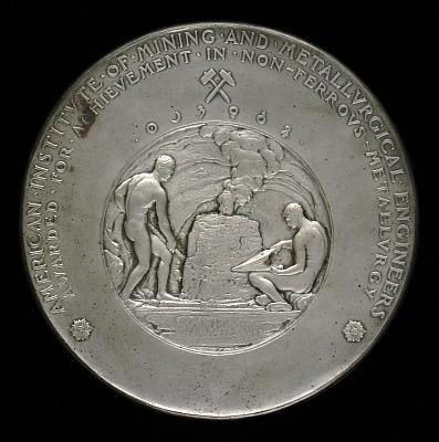 James Douglas Award for Achievement in Non-ferrous Metallurgy (reverse)