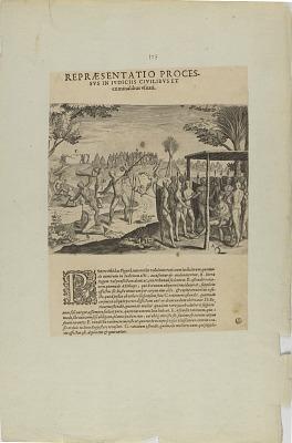 Repraesentatio Proces-/Sus in Iudiciis Civilibus et/.... (from book, Indiae Orientalis, part six)