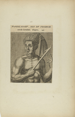 Nacol-Absov, Roi Du Promon-/toire des.... (from book, Les Vrais Pourtraits et Vies des Hommes Illustres)