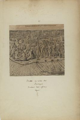 De Iss qui Acciderunt in Reditu Post Comestum Illud Mancipium. (from book, Americae, part three)
