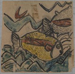 Fish Design for a Ceramic Plate