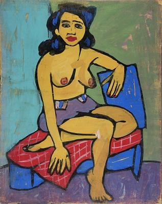 Semi-Nude Seated Woman
