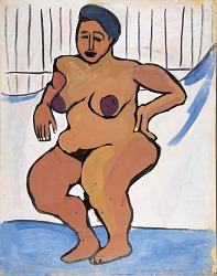 Female Nude against White Background