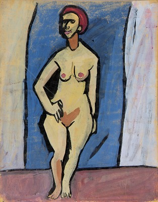Standing Female Nude with Red Hair