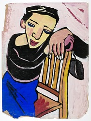 Woman Draped on Chair