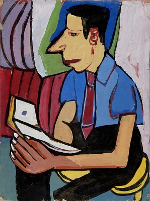 Seated Man with Book
