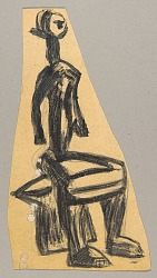 African Sculpture--Figure of Seated Woman