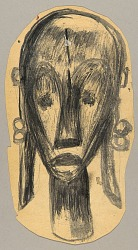 African Sculpture--Head of a Woman