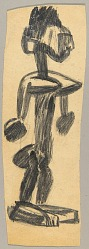 African Sculpture--Figure of a Woman (or) Study of Bamana Figure