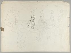 Chiang Kai-Shek, Franklin Delano Roosevelt, Winston Churchill and Madame Chiang Kai-Shek--Cairo Conference