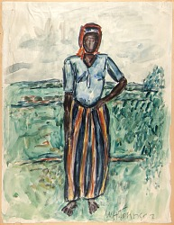 African Woman--Study in Tunis
