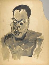 Male Nude--Portrait Bust