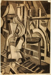 Abstract--Seated Figure