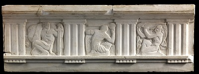 (Metope study for Postal Administration Building) Three Classical Warrior Figures
