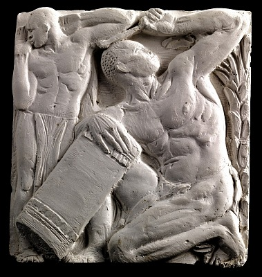 (Metope Study for Postal Administration Building) Tom Toms (#1)