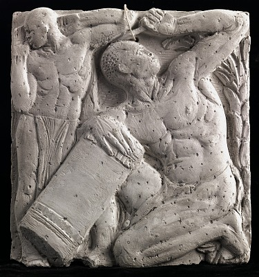 (Metope Study for Postal Administration Building) Tom Toms (#3)