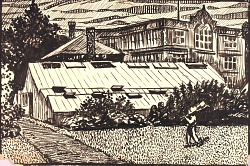 Untitled (Figure and Buildings)
