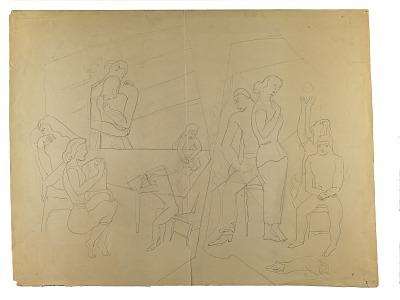 (Untitled--Multi-Figure Group)