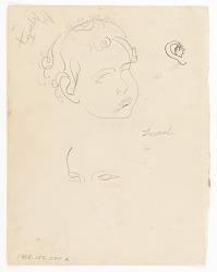 (Untitled--Child's Head) {recto}; (Equestrian Scene) {verso}