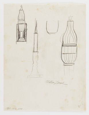 (Untitled--Burning Menorah and Star) (study for the Monument to Six Million Jews Destroyed in Germany by the Nazis) #9