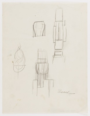 (Untitled--Menorah) (study for the Monument to Six Million Jews Destroyed in Germany by the Nazis) #10