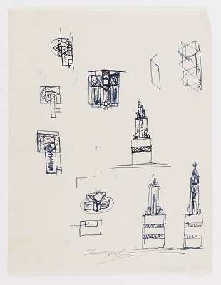 (Untitled) (study for Monument to Six Million Jews Destroyed in Germany by the Nazis) #13
