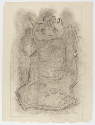 (Untitled) (study for sculptural relief)
